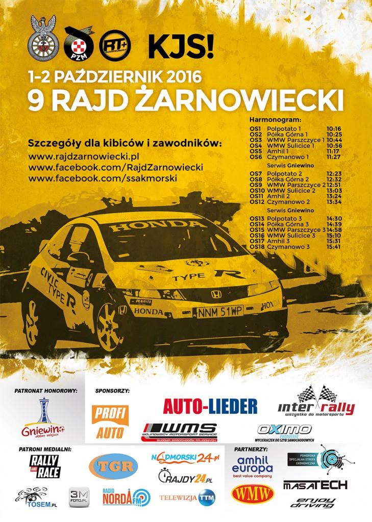 Plakat [internet RGB] - 9 Rajd Żarnowiecki