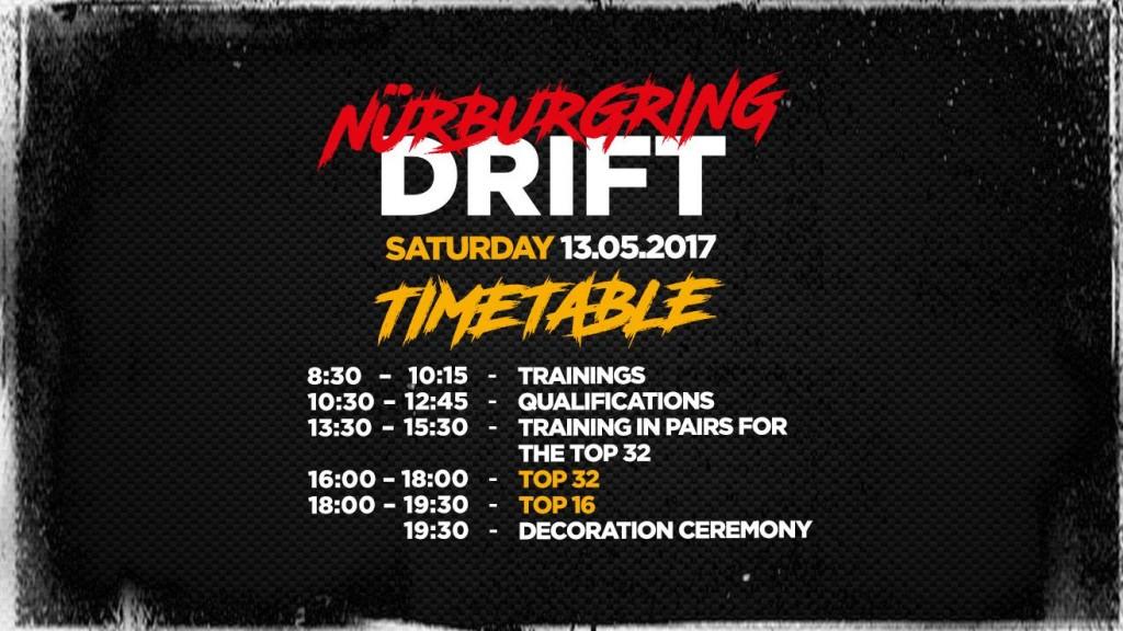 Harmonogram zawodów na torze Nurburgring 13 maja 2017