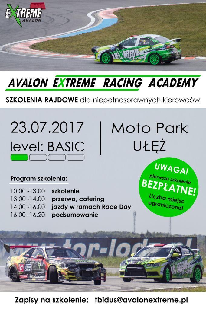 Avalon Extreme Racing Academy_Plakat