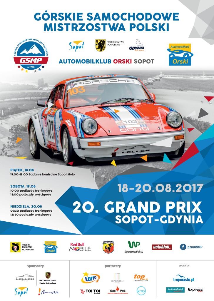Grand Prix Sopot-Gdynia 2017 - plakat