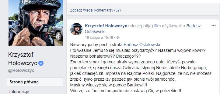 Krzysztof Hołowczyc_Facebook