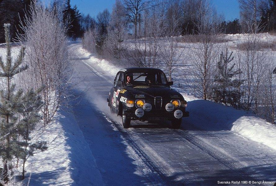 1980 Rally Sweden WRC - Ulf Karlsson - Erik Uppsall, Saab 96 V4
