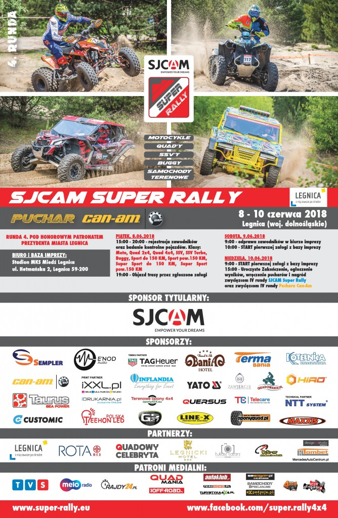 SJCAM_SUPER_RALLY-PUCHAR_CAN-AM_Legnica_2018_PLAKAT