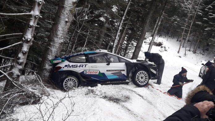 Wypadek Greensmitha na testach przed Rajdem Monte Carlo 2021/ Foto: Media Sport Development