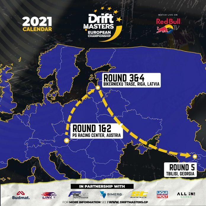 Drift Masters 2021. Mapa rund